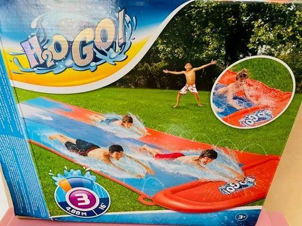 Potrójny ślizg dla dzieci, ślizgawka wodna SUPER STAN