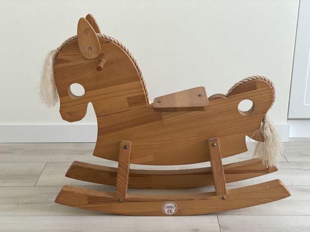 Лошадка-качалка деревянная, лошадка-каталка, коник-гойдалка