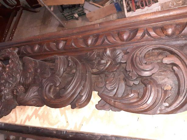 Fabulosa Galeria / Sanefa  em talha  ( madeira de castanho