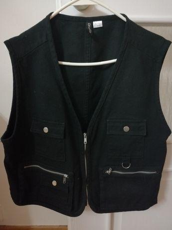 H&M czarna kamizelka jeans roz. L