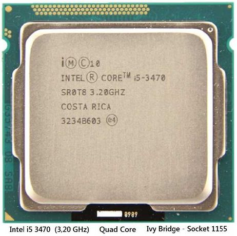 CPU intel i5-3470 Quad Core
