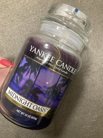 Yankee Candle duża nowa świeca zapachowa Midnight Oasis