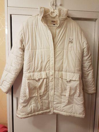 kurtka zimowa biała