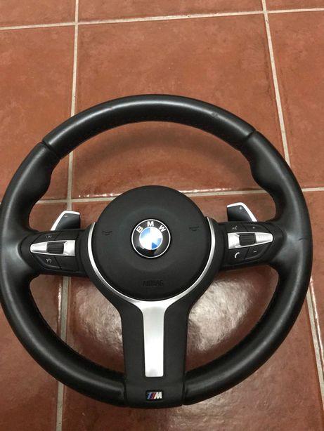 Volante BMW f20 f21 f30 f31 f32 f36 pack M com patilhas