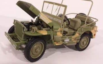 1/18 Jeep Willys MB WWII - AutoWorld