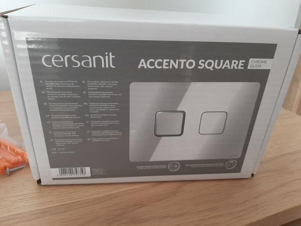 Cersanit przycisk pneumatyczne Accento Square chrome gloss