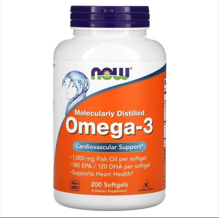 Витамины Now Omega-3 1000 mg 180 EPA (200 кап) Рыбий жир США Киев - изображение 1