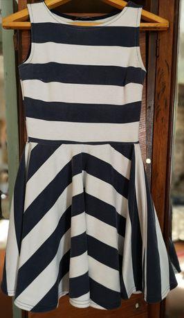 Платье полукруг в полоску