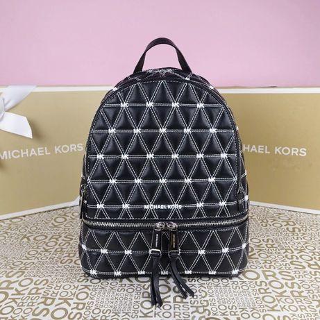 Кожаный рюкзак Michael Kors black медиум оригинал Майкл Корс