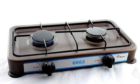 Газовая плита, Таганок DOMOTEC MS-6662 Brown 2кф , газовый таганок