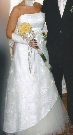 Ślubna suknia kremowa r.38 DOMINIKA