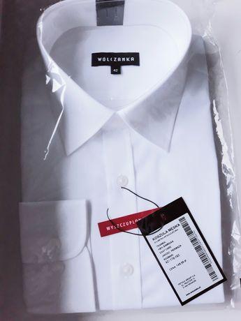 Dwie nowe koszule wólczanka biale r. 42