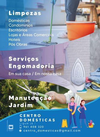 Limpezas / Engomadoria / Manutenção jardim