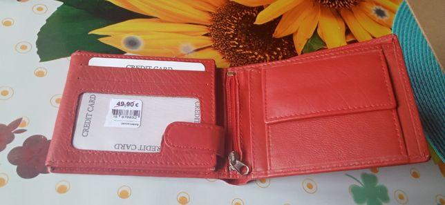 portfel skórzany nowy Veromi