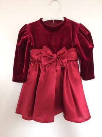Sukienka wyjściowa świateczna dla dziewczynki 80 cm