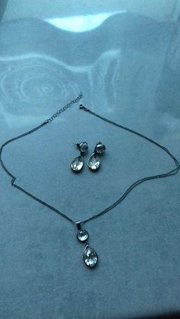 Komplet srebrnej biżuterii YES, komplet ślubny/wieczorowy