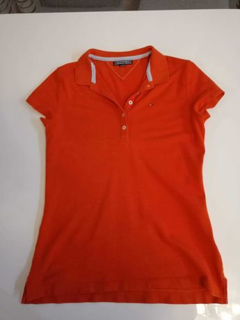Czerwona koszulka polo Tommy Hilfiger