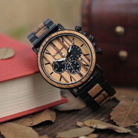 Drewniany zegarek MĘSKI CZARNY HEBANOWY + GRATIS likwidacja sklepu