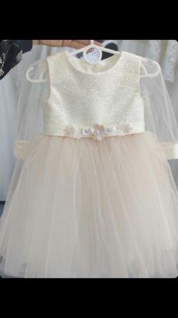 Платье на 1 год на фотосессию нарядное  праздничное годик 80