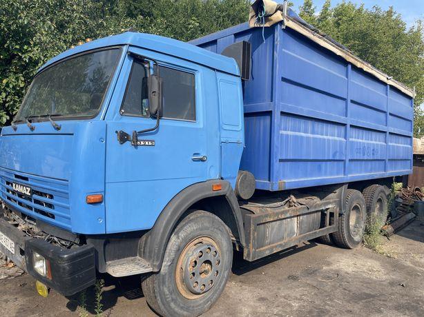 Камаз 53215 зерновоз с прицепом