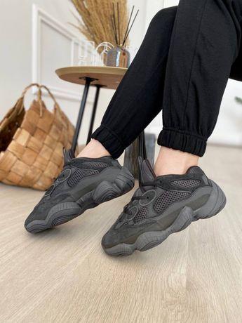 Женские осенние кроссовки Adidas Yeezy Boost 500 Black
