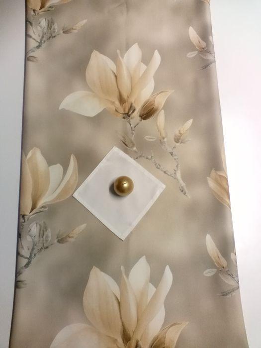 Bieżnik żółte kwiaty magnolia nowoczesny wzór Tokarnia - image 1