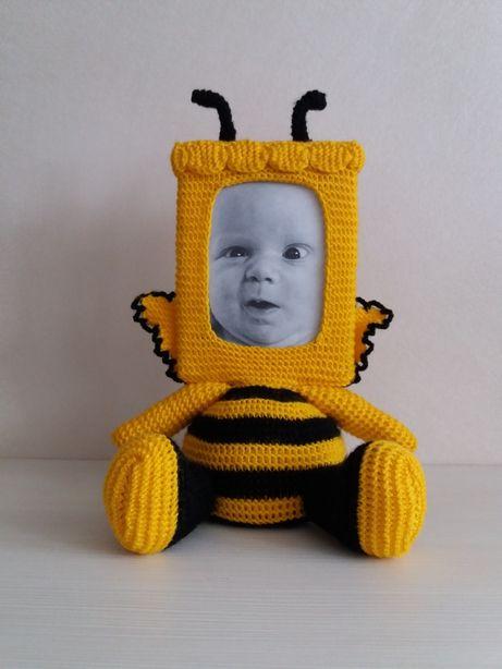 Бджілка Майя Фоторамка М'яка іграшка Оригінальний подарунок Декор