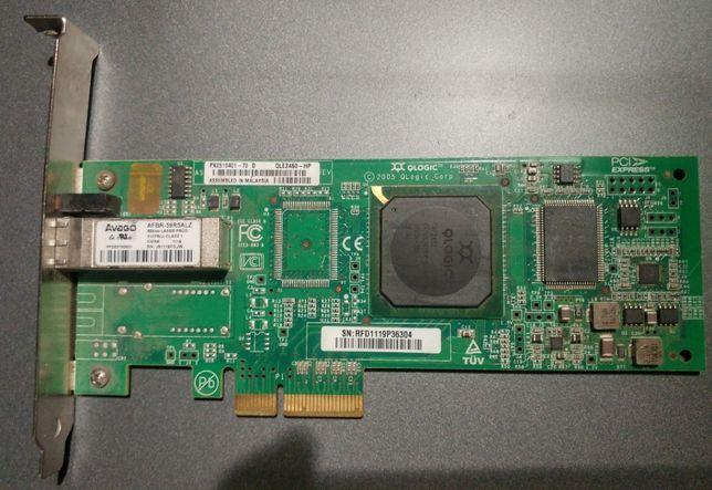 Оптоволоконный адаптер QLogic single QLE2460 PCIe 4Gbps FC HB Adapter
