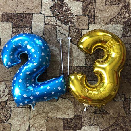 Гелева кулька цифра два та три