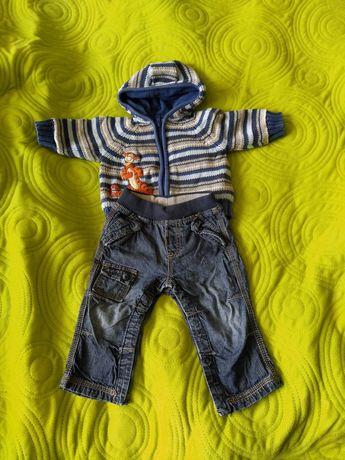 Swetr, sweter, bluza, spodnie jeans niemowlęce