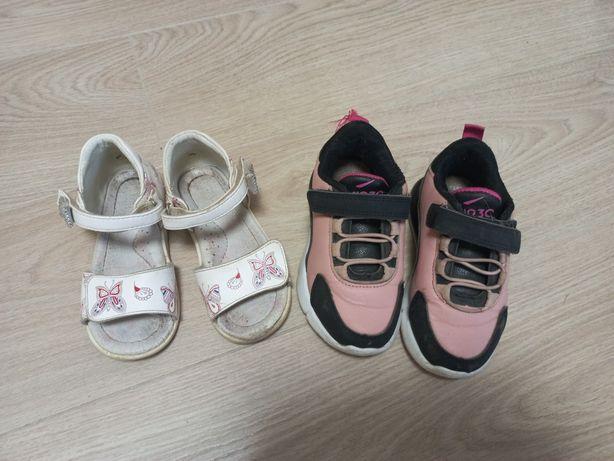 Босоножки и кроссовки на девочку