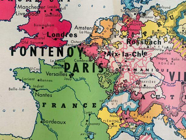 Mapa vintage mid-century - dupla face