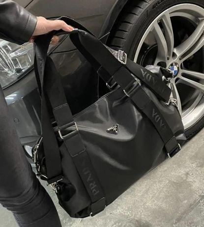 Спортивная сумка PRADA BLACK, сумка ПРАДА