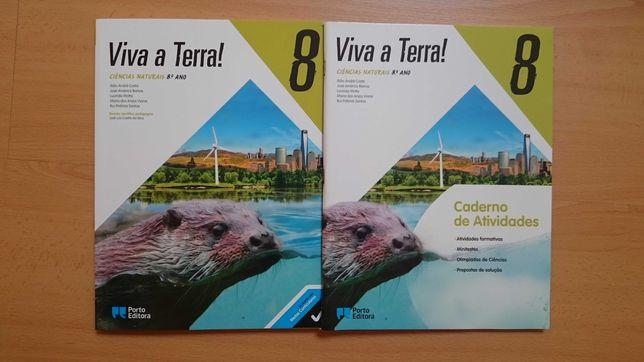Viva a Terra! + caderno de atividades -8ºano Ciências Naturais - NOVOS