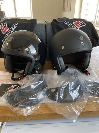 Par de capacetes aberto custom 45 cada