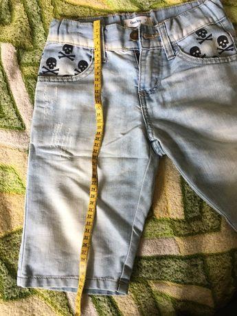 Шорты легкие джинсовые на мал.6-8 лет/128р.