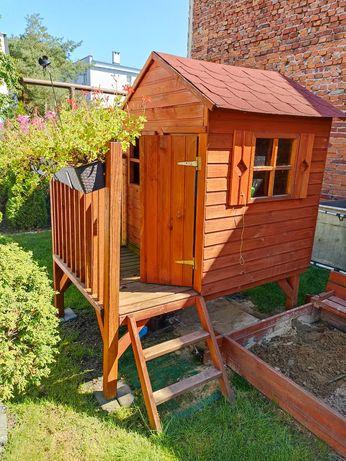 Domek dom drewniany dla dzieci GRZEŚ plac zabaw podwórko