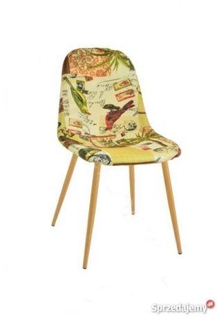 Krzesło nowoczesne nogi w kolorze drewna - 2 sztuki