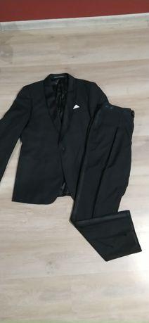 Czarny garnitur/ślubny 190cm