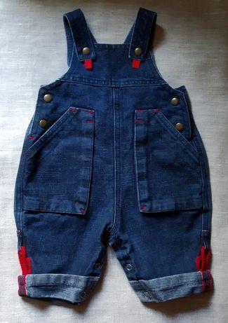 Стильный джинсовый комбинезон на 3-6 мес., 62-74р.