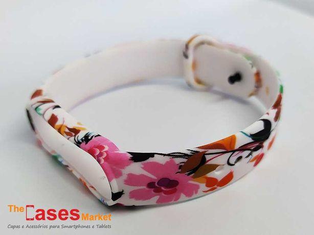 Bracelete silicone Flores Xiaomi Mi Band 5 / Mi Band 6