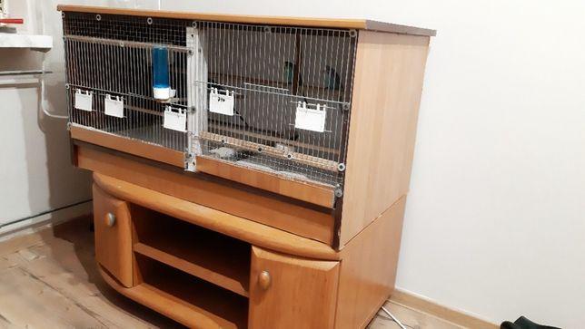 Klatka dla ptaków papug Zawiercie duża woliera oświetlenie LED