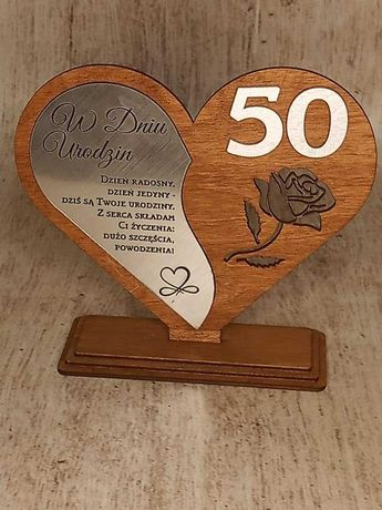 statuetka serce z grawerem urodziny imieniny