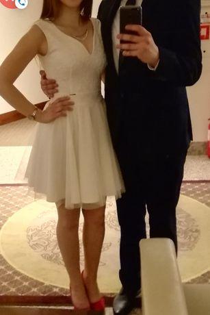 Sukienka ivory biel 38 wesele bal poprawiny