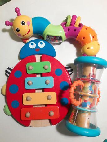Детские игрушки,кселофон,калейдоскоп,гусеница,набор детских игрушек