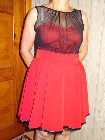 Czerwona suknia sukienka rozkloszowana jak nowa 42