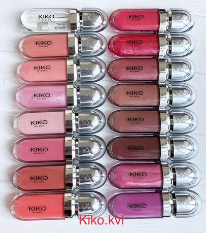 Блеск для губ kiko milano 3d hydra Италия