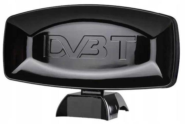 MOCNA Antena DVBT pokojowa wzmacniacz kabel