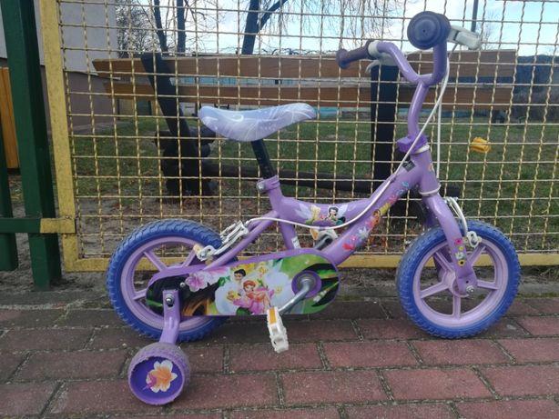Rower dla dziewczynki 12 cali seria Wróżka Dzwoneczek