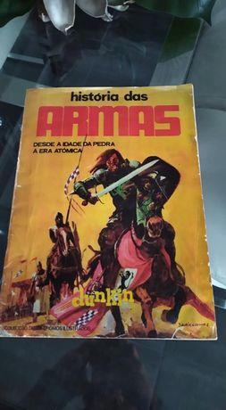 caderneta rara HISTÓRIA DAS ARMAS --1970
